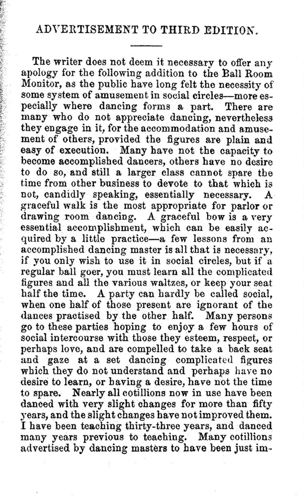 The  ball-room monitor, or, Guide to the learner containing the most complete sets of quadrilles ever published