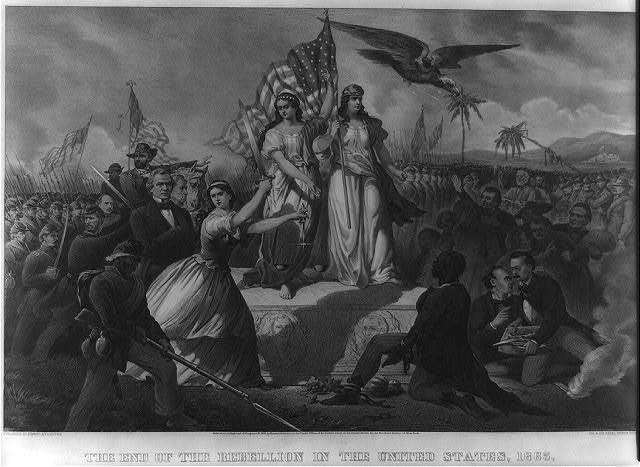 The end of the rebellion in the United States, 1865 / C. Kimmel.