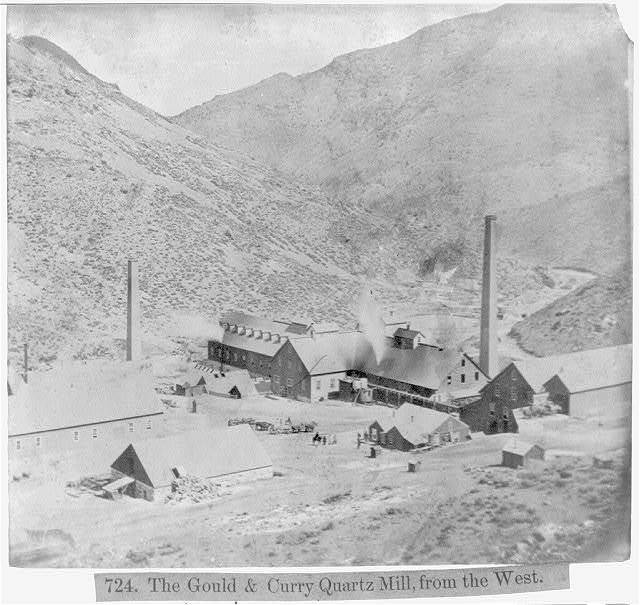 The Gould & Curry Quartz Mill, from the West