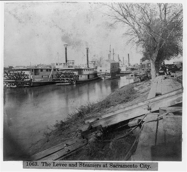 The Levee and Steamers at Sacramento City