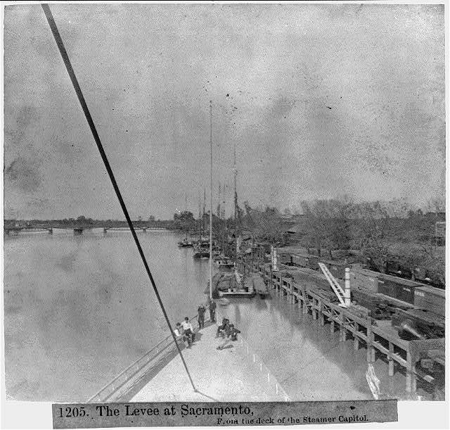 The Levee at Sacramento, from the deck of the steamer CAPITOL