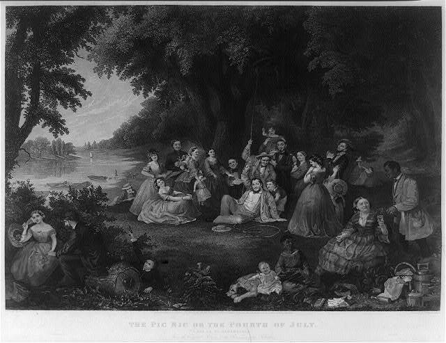 """The pic nic on the fourth of July """"A day to be remembered"""" / / painted by Lilly M. Spencer ; engraved by Saml. Hollyer & J. Rogers."""