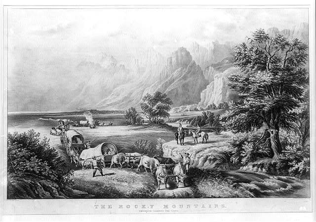 The Rocky Mountains : emigrants crossing the plains / F.F. Palmer, del. ; Currier & Ives lith., N.Y.