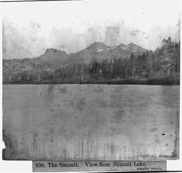 The Summit - View from Summit Lake, Amador County