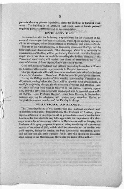 Twentieth circular and announcement of the medical department of the Iowa state university, located at the City of Keokuk, Iowa the session of 1866-67.