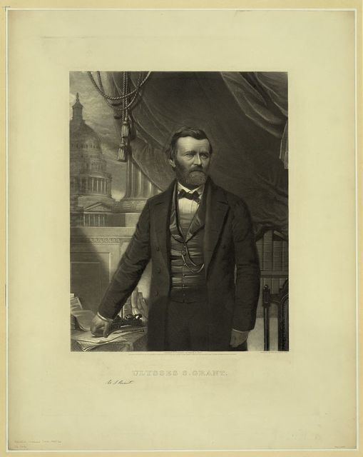 Ulysses S. Grant / engraved by William Sartain, Phila.