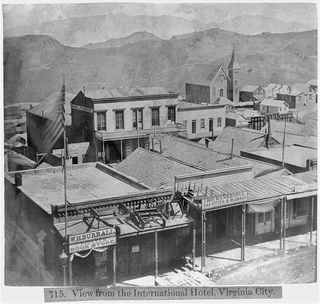 View from the International Hotel, Virginia City