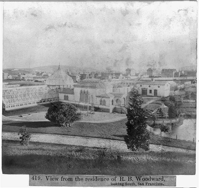 View from the residence of R.B. Woodward, looking South, San Francisco