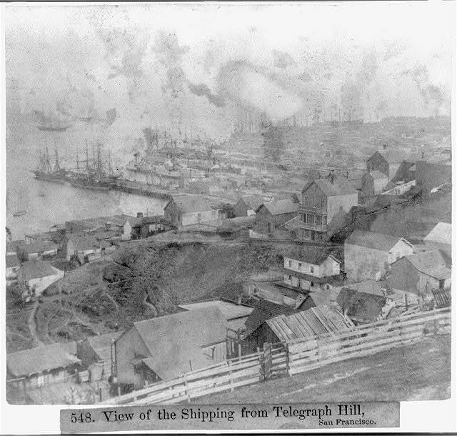 View of the Shipping from Telegraph Hill, San Francisco