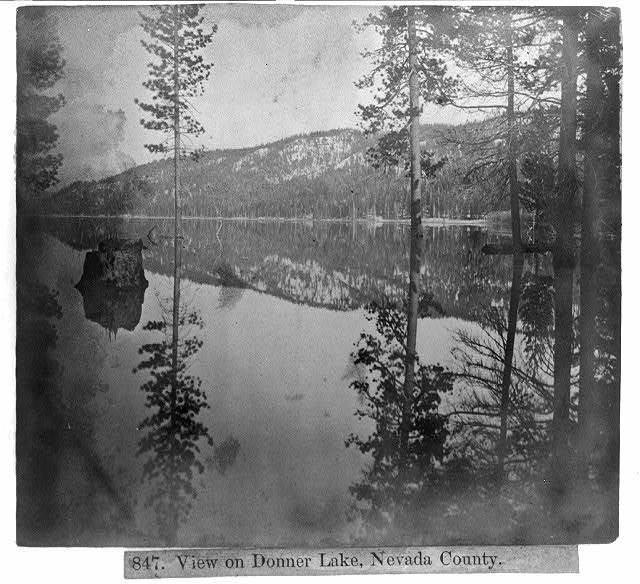 View on Donner Lake, Nev. Co.