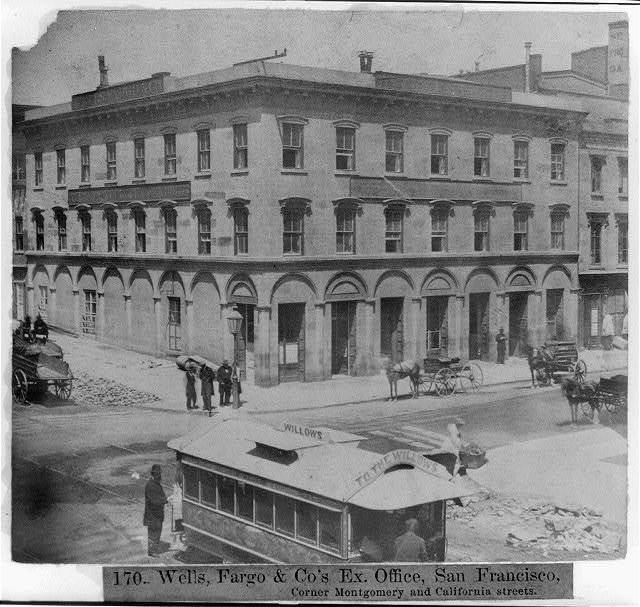Wells, Fargo and Company's Ex. Office, San Francisco, corner Montgomery and California Streets
