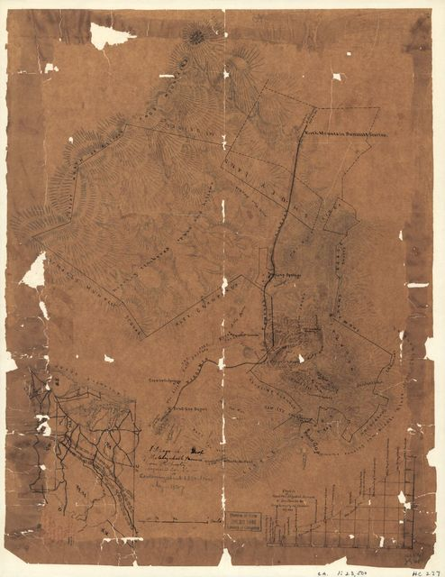 A topographical map of the Elizabeth Furnace iron property, Augusta Co., Va., containing about 6250 acres, Aug. 1867.