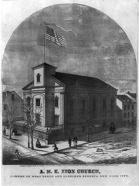 A.M.E. Zion Church, corner of West Tenth and Bleecker Street, New York City