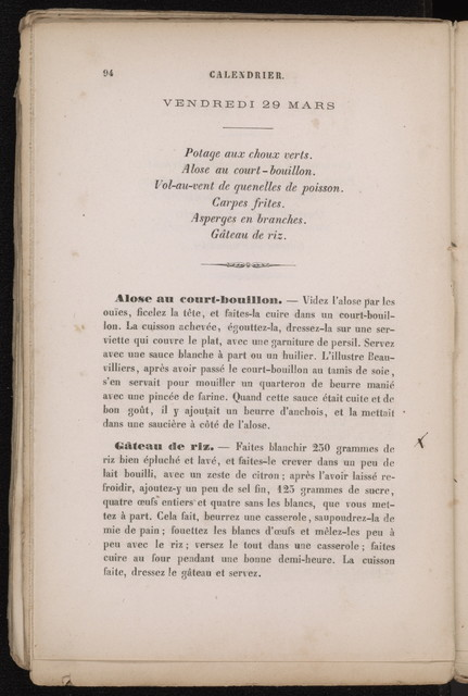 Calendrier gastronomique pour l'annee 1867 : les 365 menus du baron Brisse : un menu par jour.