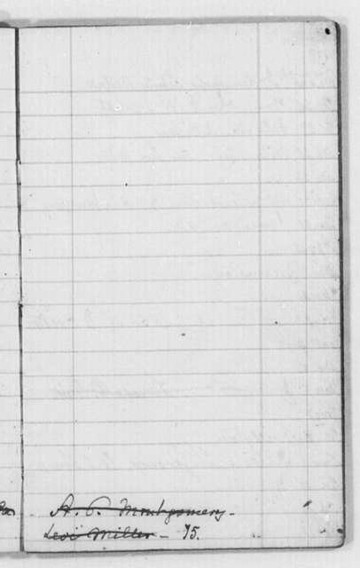 Douglass, Frederick (Appointment Book)