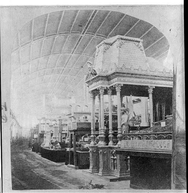 Exposition Universelle de Paris, 1867. Interior of a building