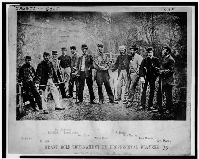 Grand golf tournament by professional players--On Leith links 17th May 1867