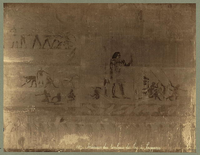 Interieur du tombeau de Ty à Saqqara / Bonfils.