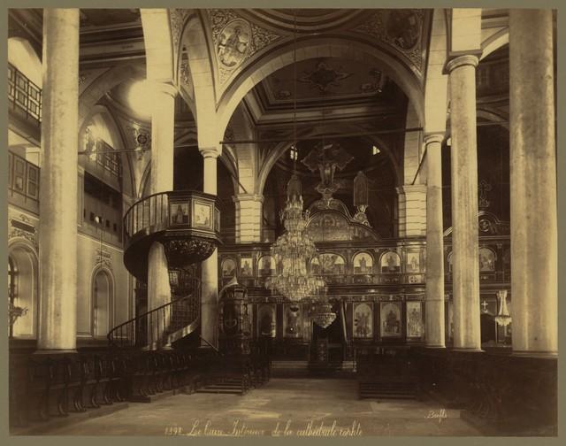 Le  Caire. Intérieur de la cathédrale cophte