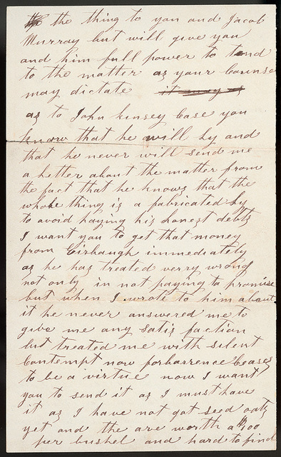 Letter from Samuel Oblinger to Uriah W. Oblinger, May 12, 1867