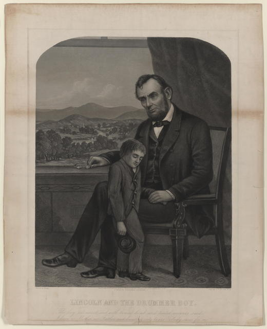 Lincoln and the drummer boy, [Knapp portrait].
