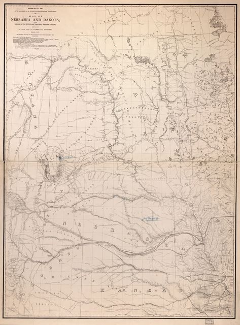 Map of Nebraska and Dakota and portions of the states and territories bordering thereon /