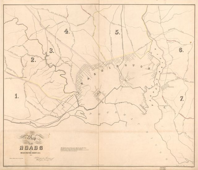 Map of the roads in Washington County, D.C. /