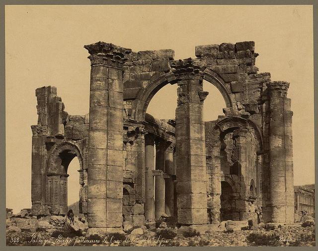 Palmyre. Parte postérieure de l'arc de triomphe. Syrie / Bonfils.