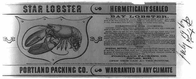 Star lobster--Portland Packing Co.