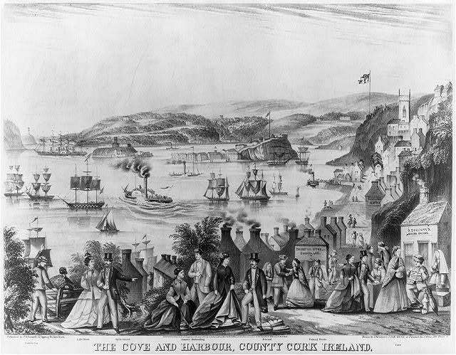 The cove and harbour, County Cork Ireland / drawn by J. Brenann 223 E. 40th St. & printed by J. Rau 381 Pearl St.