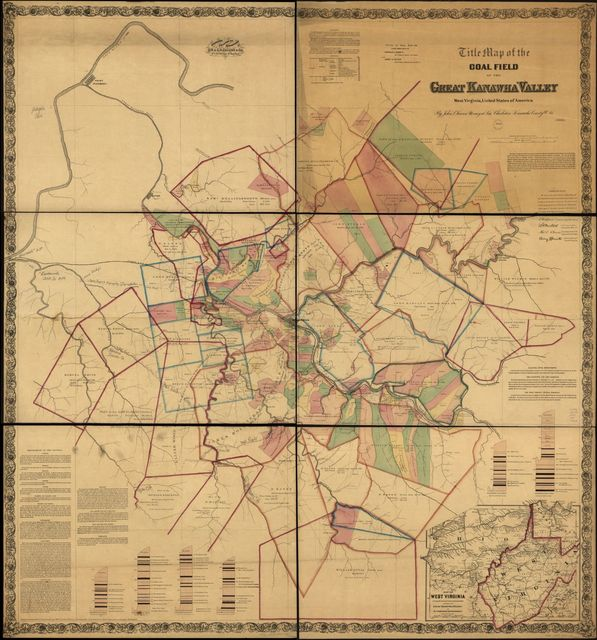 Title map of the coal field of the great Kanawha Valley.