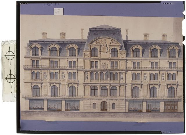 [Union League Club, New York City (project). Elevation. Rendering] / R. M. Hunt, architect.