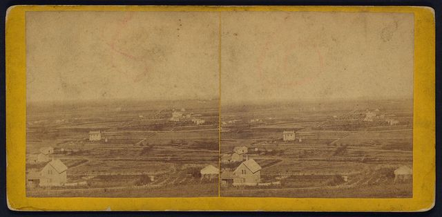 View in Waukerusa Valley, looking east from Mount Oriad, Lawrence, Kansas, 323 miles west of St. Louis, Mo.
