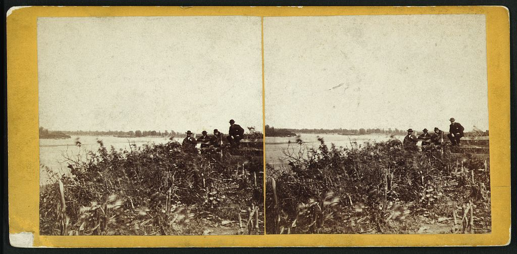 View on Kansas River, Topeka, Kansas, 351 miles west of St. Louis, Mo.