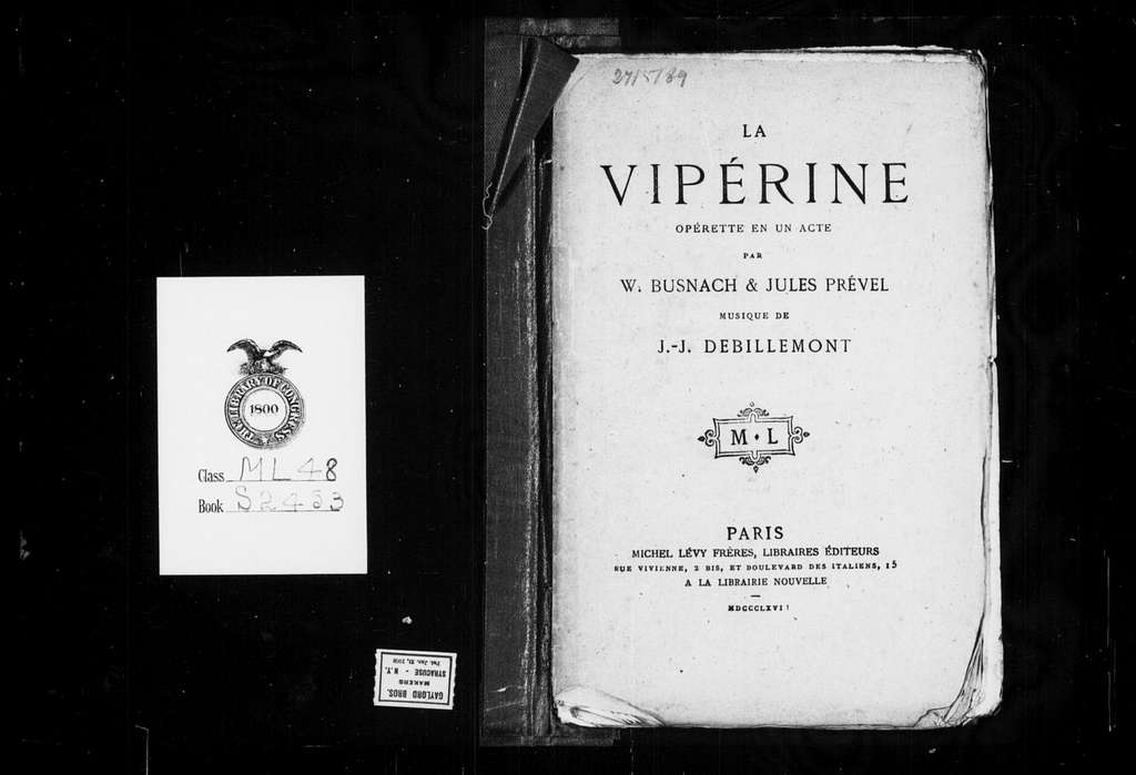 Vipérine. Libretto. French