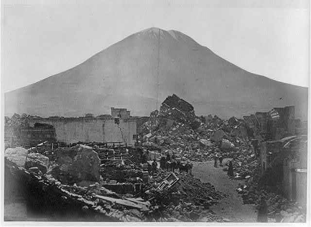 Arequipa, after the earthquake, and the Volcano Misti