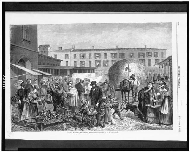 At the market, Richmond, Virginia / Sketched by W.L. Sheppard.