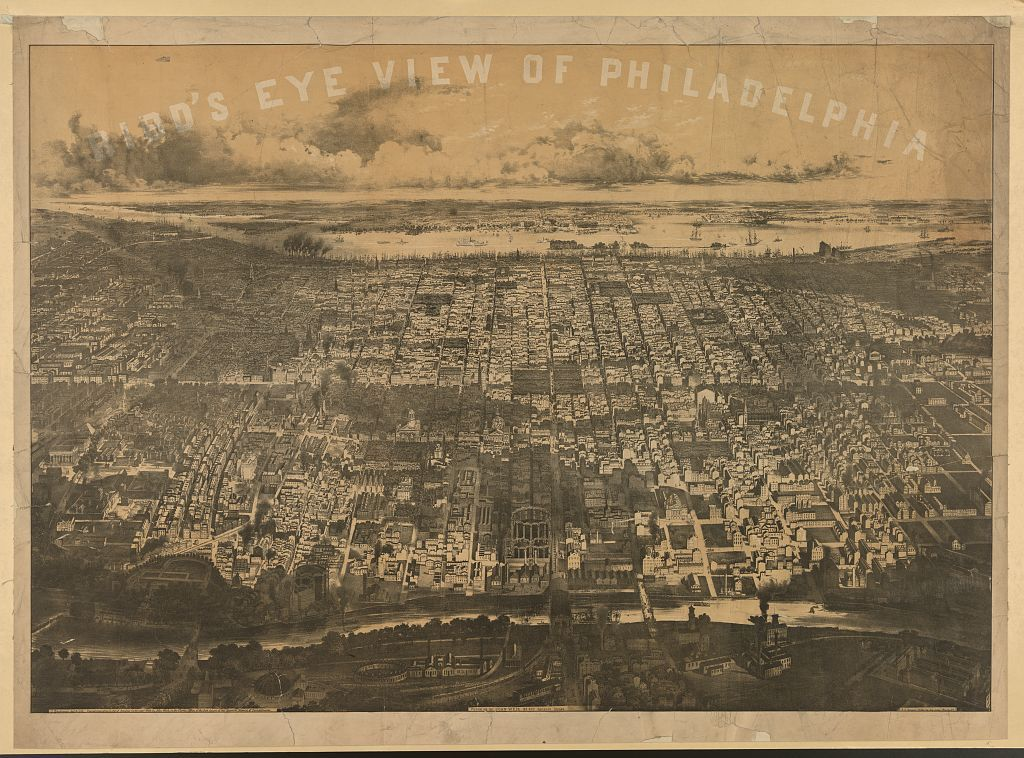 Bird's eye view of Philadelphia / J. Bachman, del. & lith.