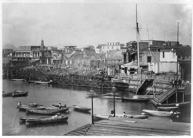 Callao, after the fire of 15 August, 1868