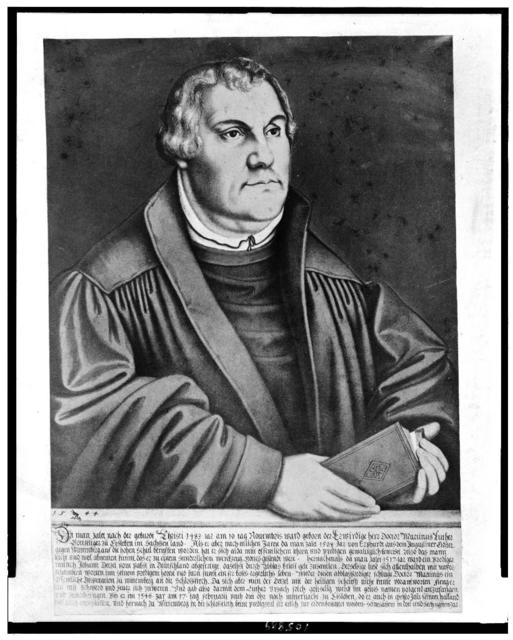 Dr. Martin Luther / photographed by C.S. Roshon, Harrisburg, Pa., from a cromo [i.e. chromo] of the original painting by Karnauc, Wertenberg, Germany [i.e. Lucas Cranach, Wittenberg]