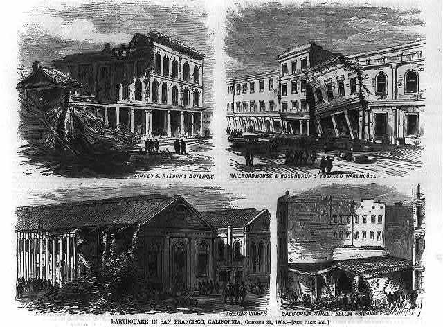 Earthquake in San Francisco, California, Oct. 21, 1868