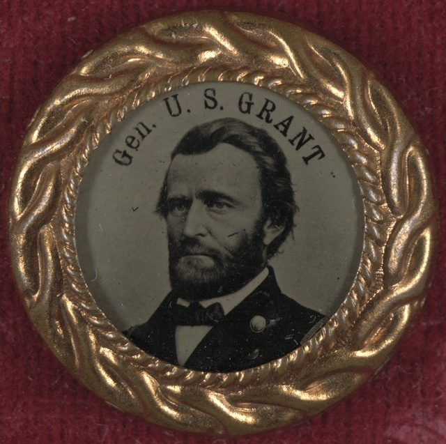 [Gen. U.S. Grant campaign button for 1868 presidential election]