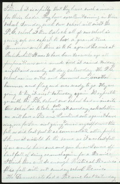 Letter from Mattie V. Thomas to Uriah W. Oblinger, August 13, 1868