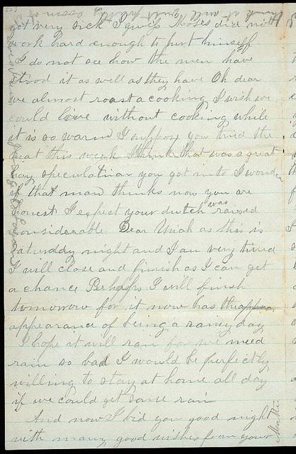 Letter from Mattie V. Thomas to Uriah W. Oblinger, July 18, 1868