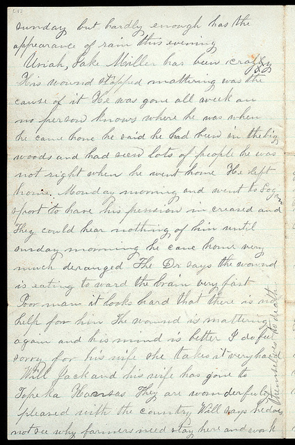 Letter from Mattie V. Thomas to Uriah W. Oblinger, July 6, 1868