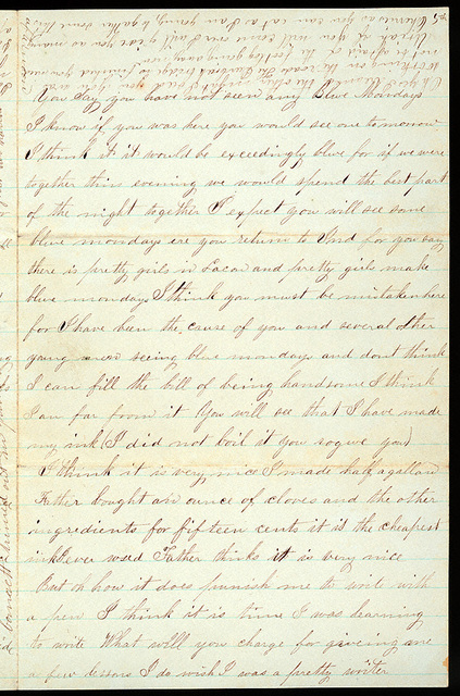 Letter from Mattie V. Thomas to Uriah W. Oblinger, June 21, 1868