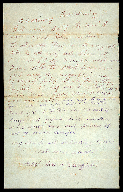 Letter from Sarah A. Murray, Jacob H. Murray to Uriah W. Oblinger, August 6, 1868