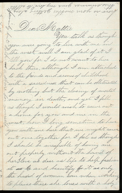 Letter from Uriah W. Oblinger to Mattie V. Oblinger, August 3, 1868