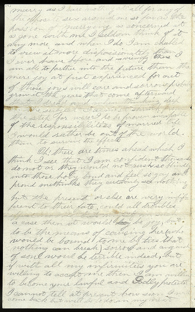 Letter from Uriah W. Oblinger to Mattie V. Thomas, August 27, 1868