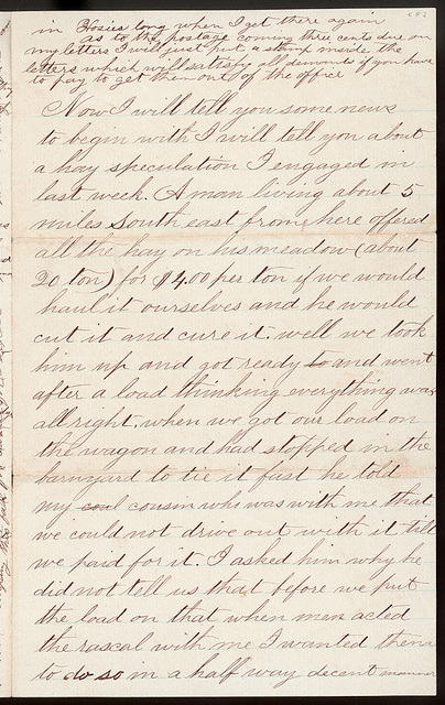 Letter from Uriah W. Oblinger to Mattie V. Thomas, July 12, 1868